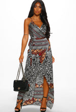 Multi Print Maxi Dress - Front View