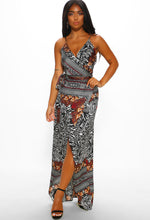 Multi Print Maxi Dress - Full Length View