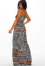 Multi Print Maxi Dress - Back View