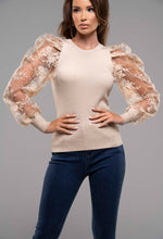 Organza Sleeve Jumper
