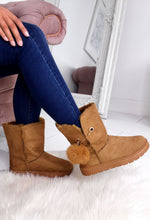 Tan Fur Lined Ankle Boots