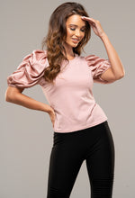 Pink Satin Sleeve T-Shirt