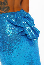 Bow Detail Sequin Prom Dress