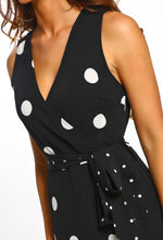 Monochrome Polka Dot Maxi Dress