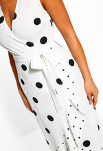White Wrap Polka Dot Dress