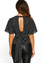 Cut Out Bow Detail Blouse - Back View