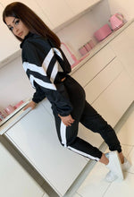 Black and White Stripe Tracksuit