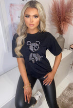Black Teddy Print T-Shirt