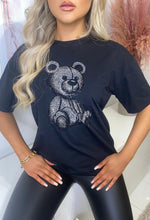 Black Diamante Teddy T-Shirt