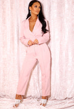 Pink Tapered Pleat Front Trouser
