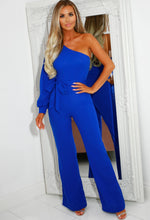 Cobalt Blue One Shoulder Jumpsuit