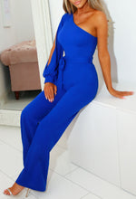 Wide Leg Blue Party Jumpsuit