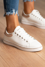 White and Diamante Trainers