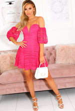 Hot Pink Crochet Dress