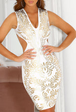 White Cut Out Bodycon Mini Dress