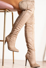 Thigh High Nude Boots