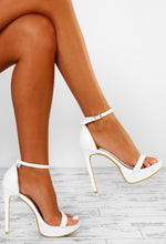 White Platform Stilettos - Side View