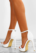 White Platform Stilettos - Back View