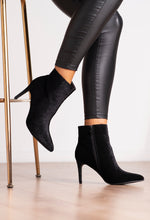 Black Velvet Ankle Boot