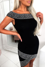 Black Diamante Dress