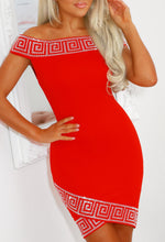 Red Diamante Mini Dress