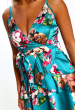 Green Floral Summer Dress