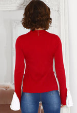 Long Sleeve Knit Jumper in Red