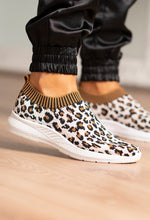Sock Trainer with Leopard Print