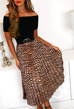 Zebra Print Skirt Midi Dress