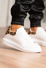 White and Leopard Trainers