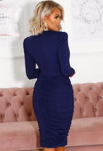 Slinky Long Sleeve Midi Dress