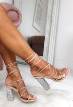 Nude Diamante Heels