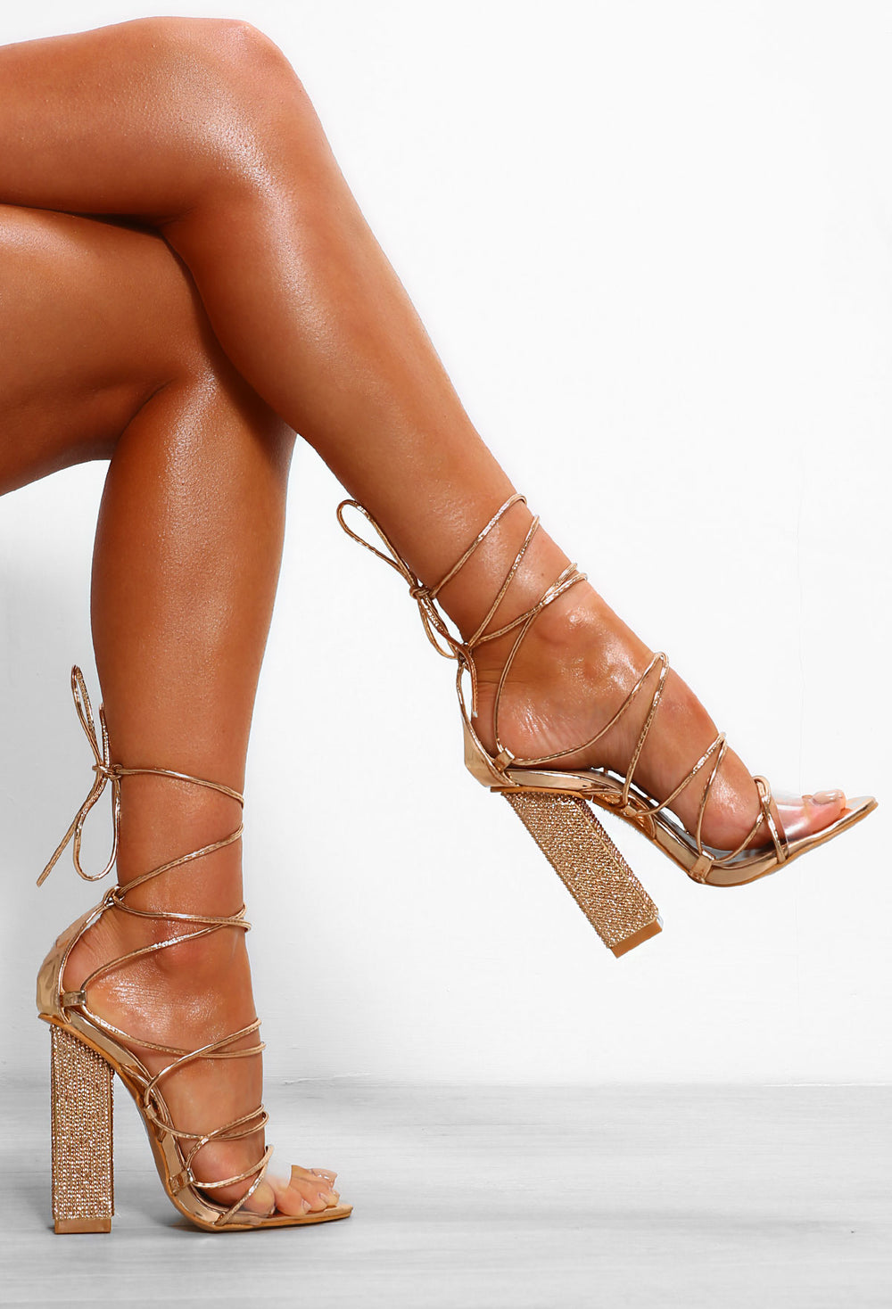 Wished Away Rose Gold Lace Up Block