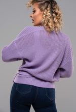 Purple Knitted Cardi