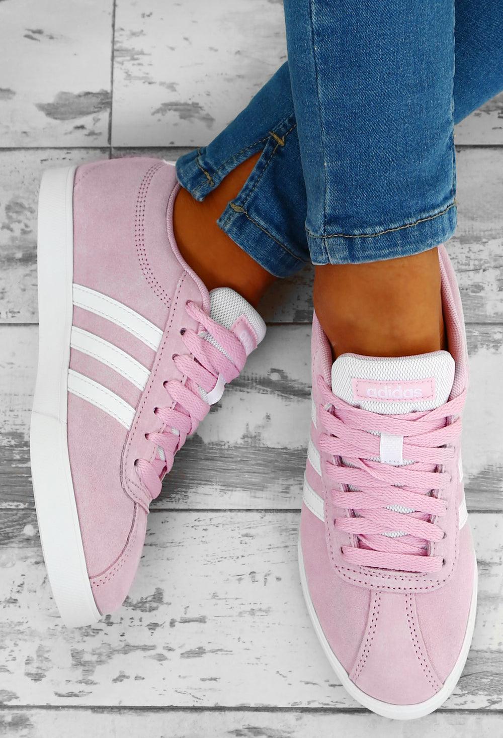 Adidas Pink Courtset Trainers – Pink