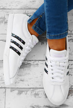 Adidas White Courtset Floral Stripe Trainers