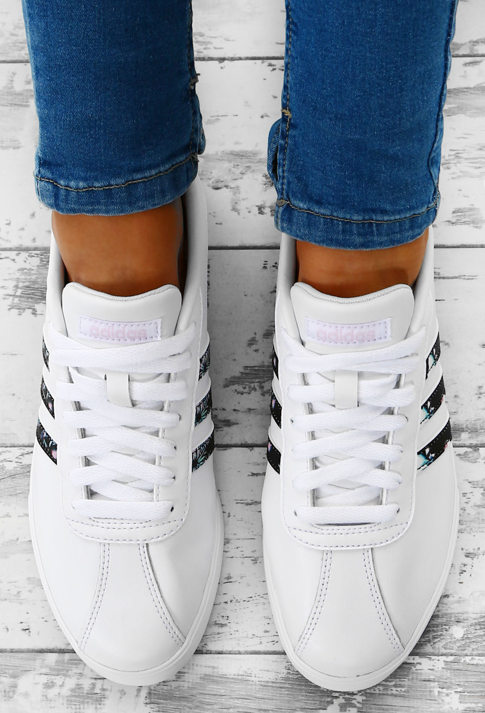 adidas court set leather ladies trainers white buy clothes shoes ...
