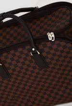 Adios Brown Check Holdall Travel Bag