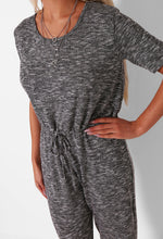 Alisha Grey Drawstring Tie Jumpsuit
