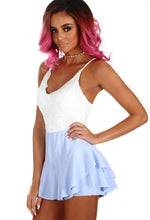 Always Misbehaving Baby Blue Frill Skort