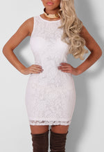 Ambra White Lace Shift Dress