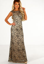 America's Sweetheart Gold Embellished Maxi Dress
