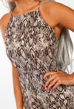 Nude Animal Print Culotte Jumpsuit - Detail