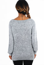 Bad Behaviour Grey Chain Detail Jumper