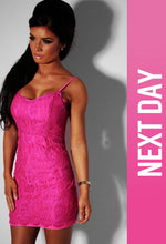 Barbie Pink Lace Sweetheart mini dress
