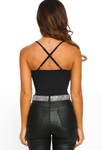 Be Your Girl Black Ruched Wrap Bodysuit