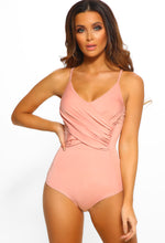 Be Your Girl Pink Ruched Wrap Bodysuit