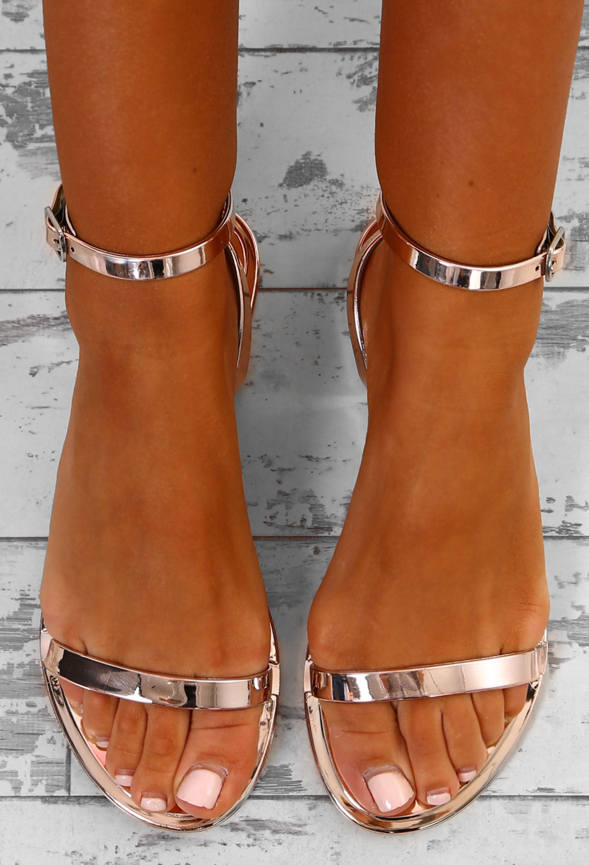 3bf06db62582 Beach Chic Rose Gold Metallic Jelly Sandals – Pink Boutique UK