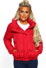 Beautiful Truth Red Oversized Puffer Jacket