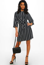 Black Stripe Mini Dress